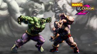 Marvel vs Capcom 2 Schlüsselbild mit Hulk und Zangief