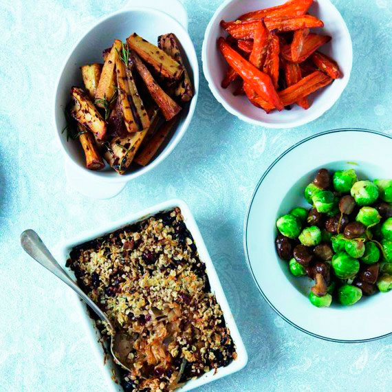 Vegetarian Christmas Dinner.Christmas Vegetables And Sides