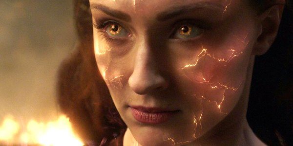 Sophie Turner intense closeup Jean Grey in Dark Phoenix X-Men Fox
