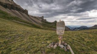 Mountain landscape in the Uncompahgre Wilderness