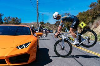 Lance Haidet showing off his bike skills