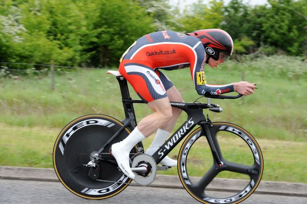 Michael Hutchinson, first, National 10-mile time trial championships 2012