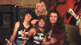 Thrash metal band Slayer in 1986