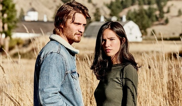 Cory Dutton Monica Dutton Luke Grimes Kelsey Asbille Yellowstone Paramount Network