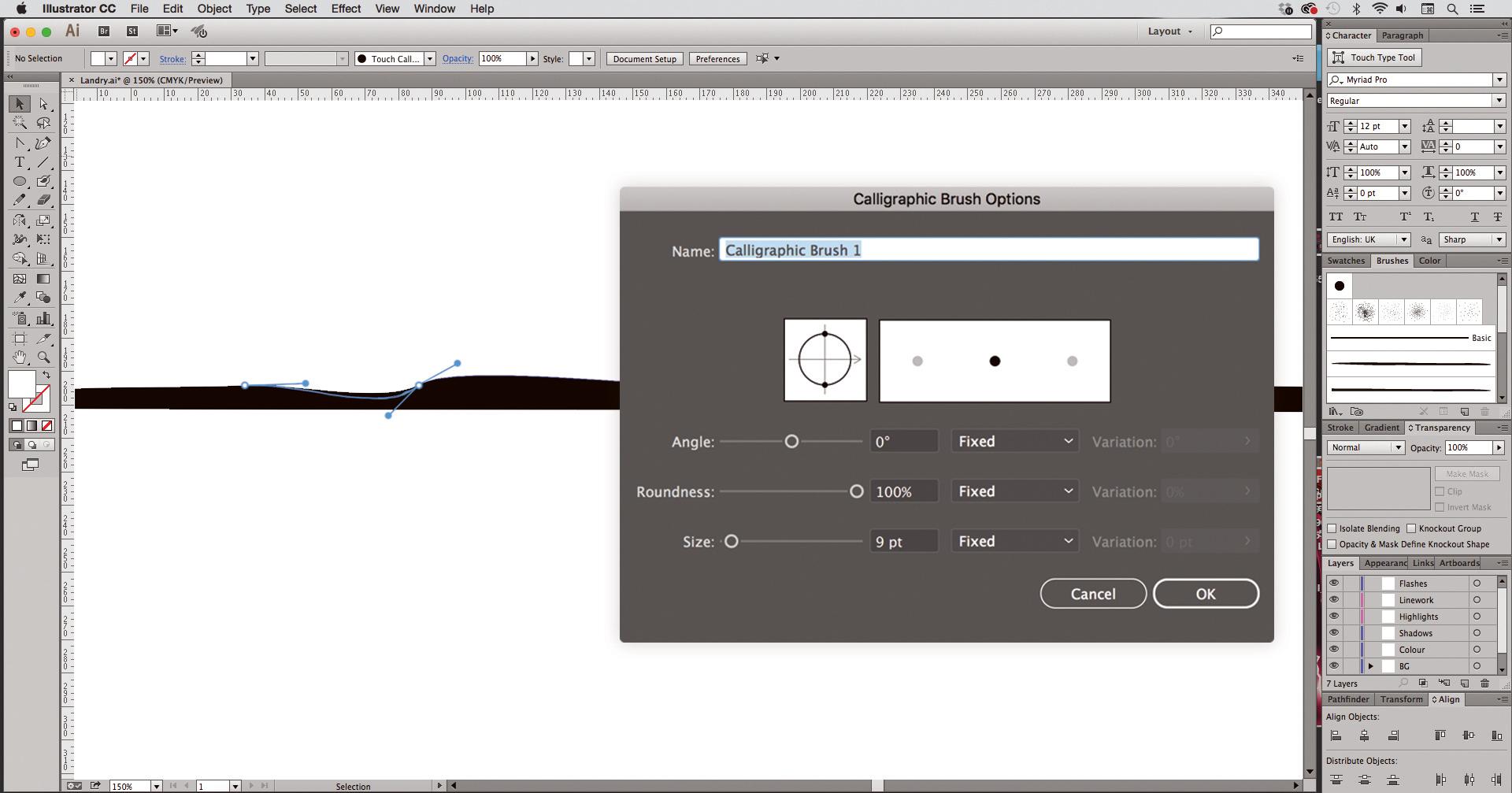 Illustrator: Refine lines