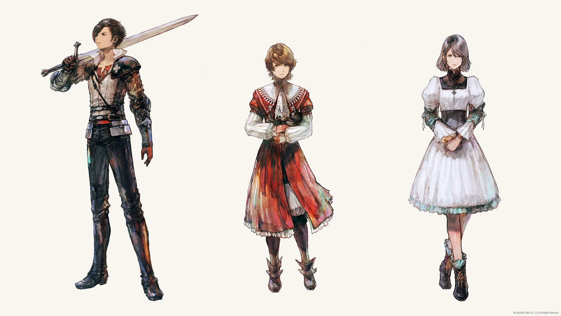 New Final Fantasy 16 characters and art