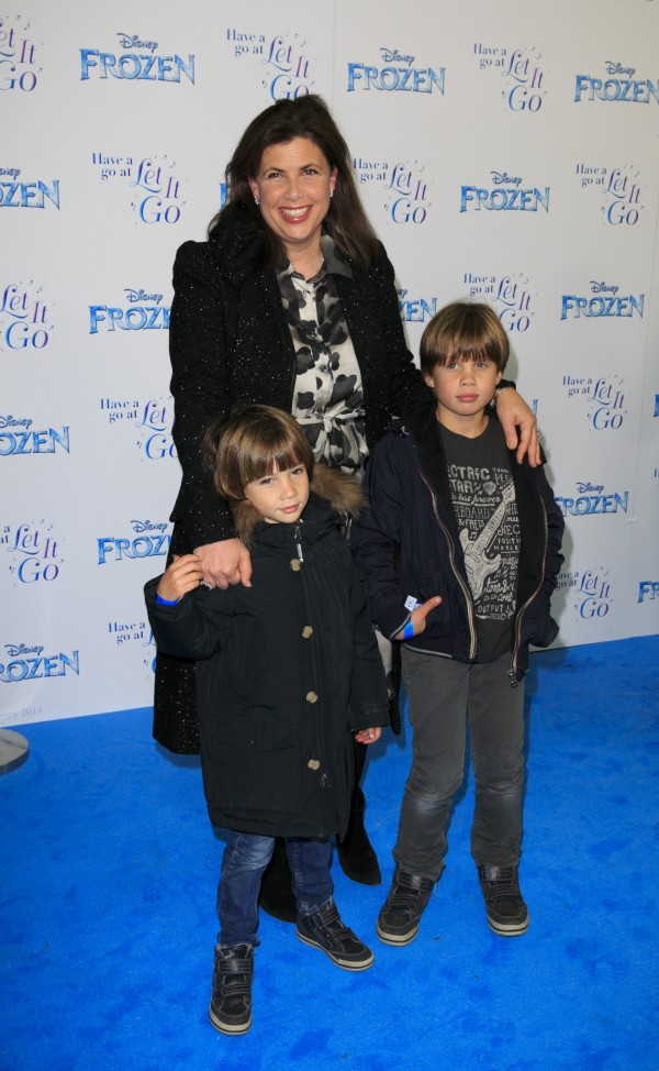 Kirstie Allsopp with sons Bay and Oscar (John Phillips/PA)