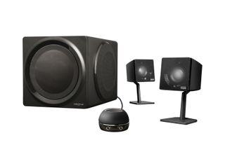 The T3 speakers in their matt black glory