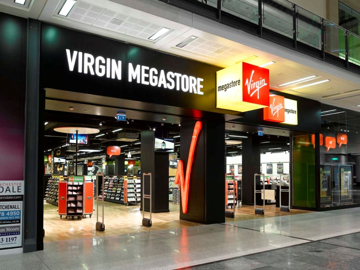 Virgin records megastore uk