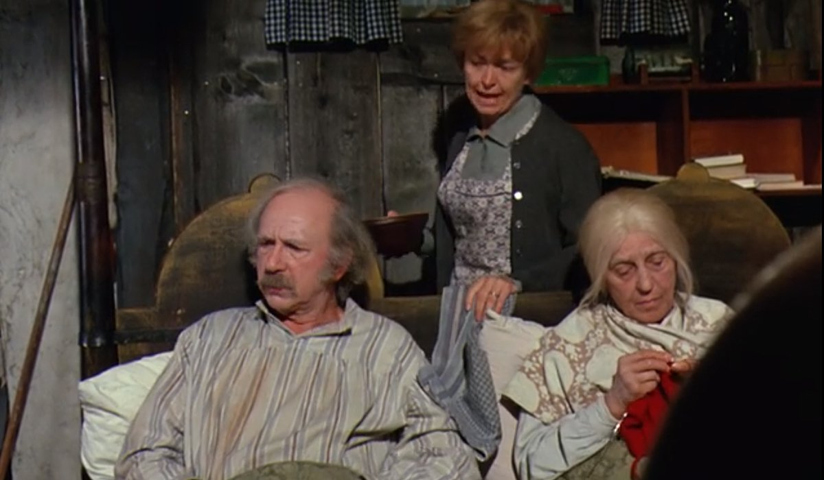 Grandpa Joe says floor is too cold Willy Wonka and the Chocolate Factory