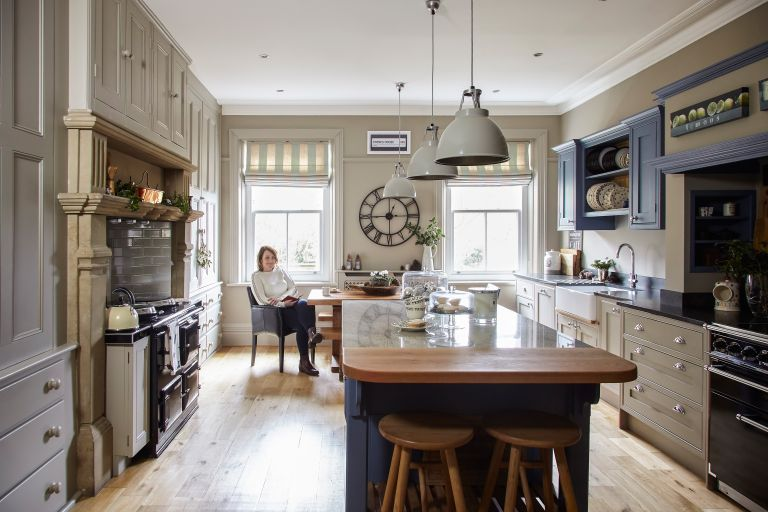 Family kitchen: Period Living magazine Sharon Broadbent