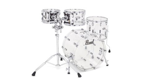 Each drum is completely transparent, and as with the '70s version, the new shells are entirely seamless