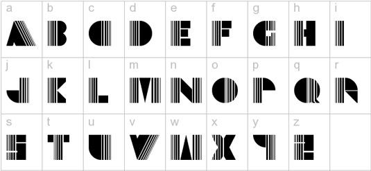 Retro fonts: Echo Deco