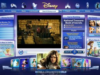 Disney UK unfortunately isn't streaming movies. Yet.
