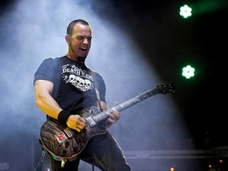 Tremonti on stage with Alter Bridge in August, 2011