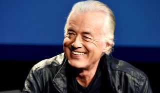 "Jimmy Page speaks onstage at ""An Evening With Jimmy Page And Chris Cornell In Conversation"" at the Ace Hotel on November 12, 2014 in Los Angeles"