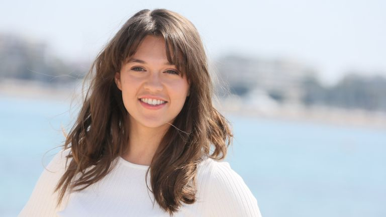 """Sabrina Bartlett attends """"Knightfall"""" photocall during MIPTV 2017 on April 4, 2017 in Cannes, France."""