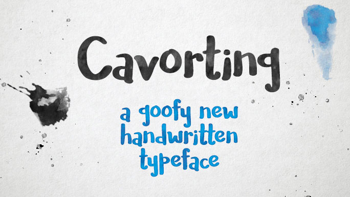 Free handwriting fonts: Cavorting