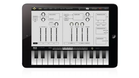 Tera Synth's 25 modules include three virtual analogue oscillators (complete with PM and FM)
