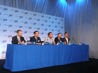 The Samsung panel at the new Jet launch