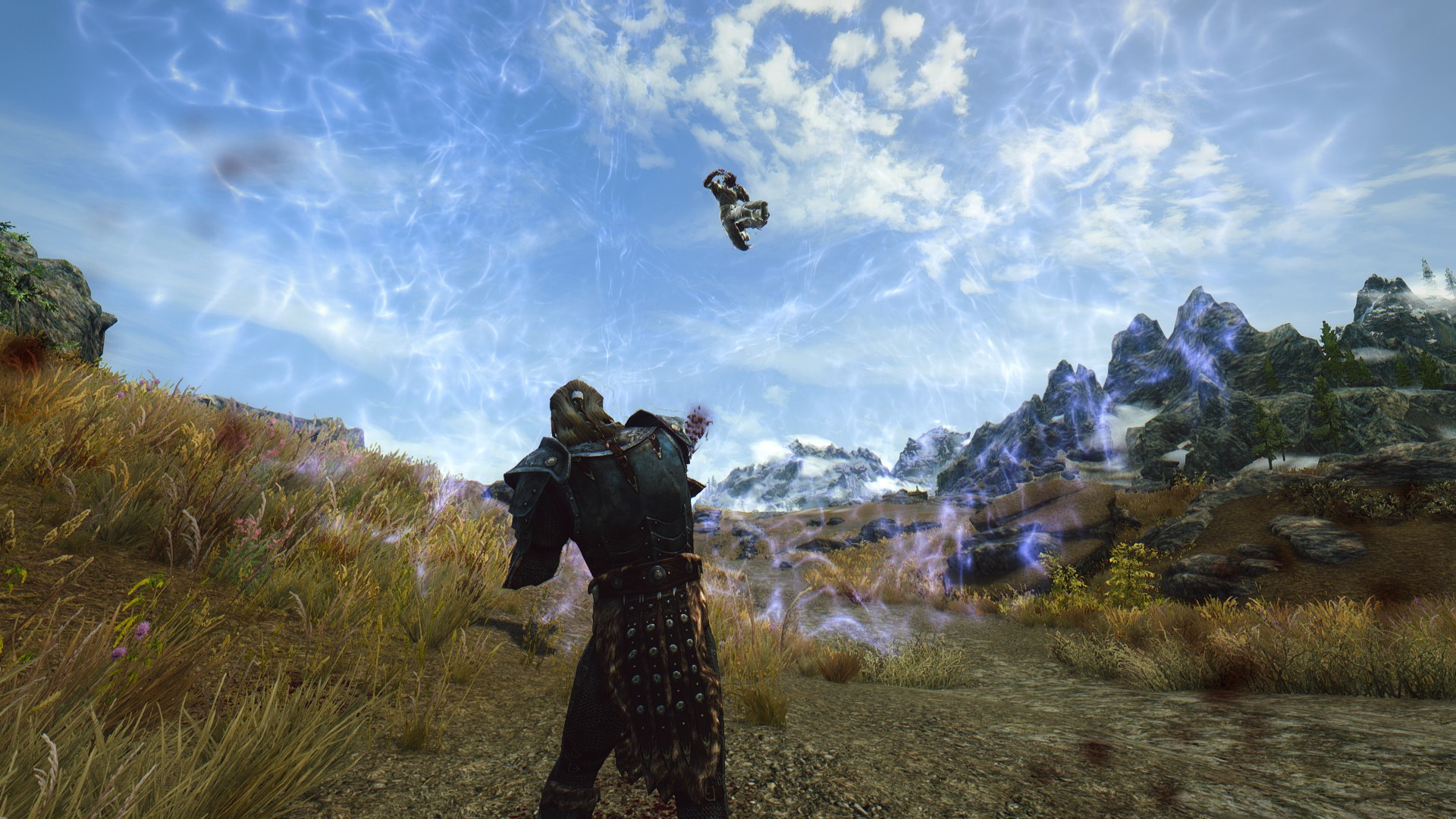 Skyrim 'Strength of the Gods' mod sends enemies soaring with