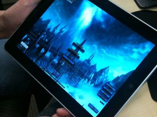 Dave Perry shows off WoW running on the Apple iPad