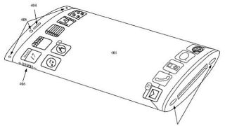 Curved iPhone patent