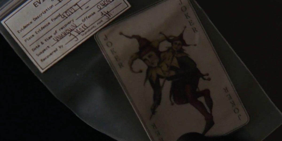 Joker's calling card in Batman Begins