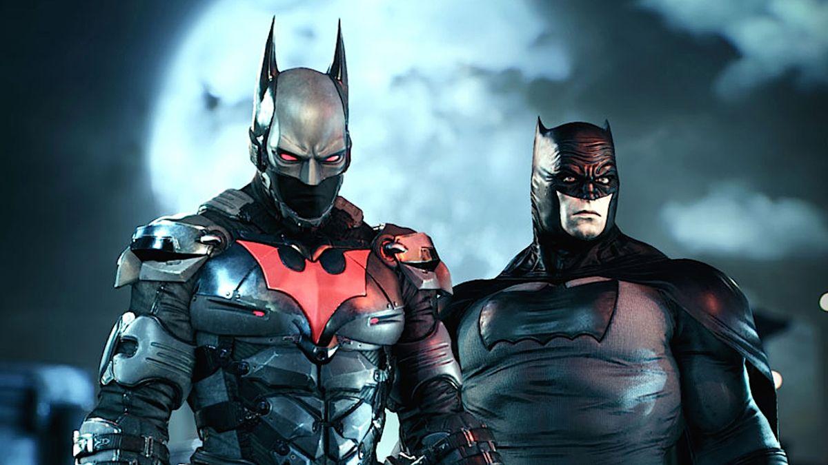 Batman: Arkham City - Gliding Around ( Batman Beyond Skin ...   Batman Arkham City Batman Beyond Flying