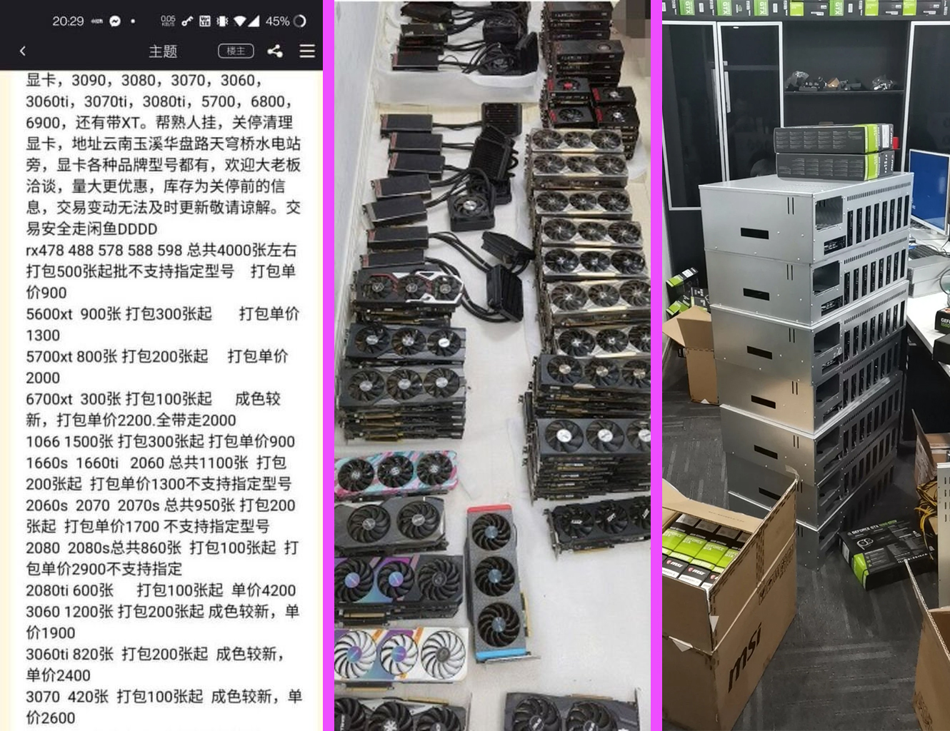 Cryptominers In China Selling Off Graphics Cards In Bulk