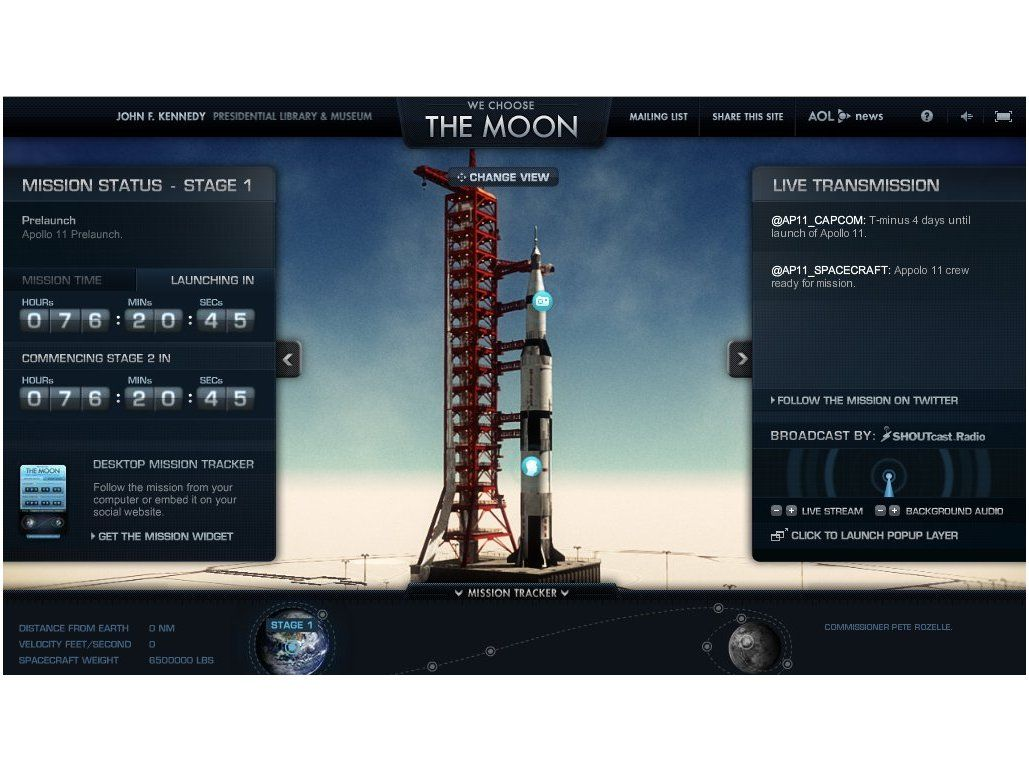a critique of we choose the moon an interactive website about the apollo 11 mission Buzz aldrin's mission to mars: a review second man on the moon should need richard on the absence of any pr preparation before the apollo 11 mission.