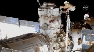 Russian cosmonauts Oleg Novitskiy and Pyotr Dubrov conducted their first spacewalk together on June 2, 2021.