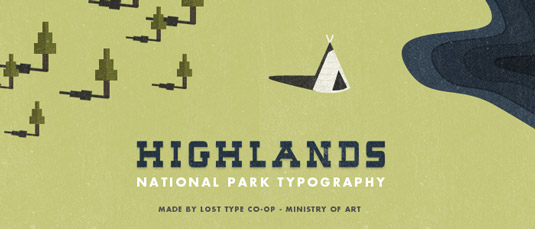 Retro fonts: Highlands