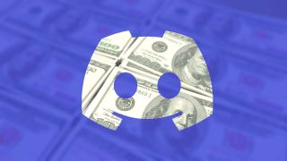 Discord logo on top of $100 notes