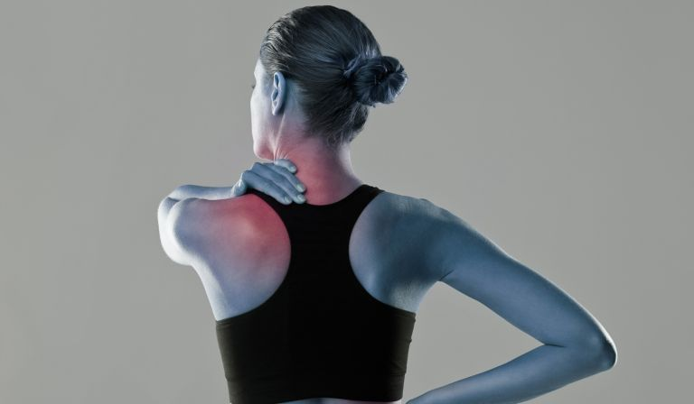 Woman suffering from inflammation