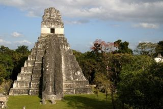 A temple in Tikal, one of the Maya city states.