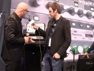 On the show floor at NAMM 2011 in Anaheim CA