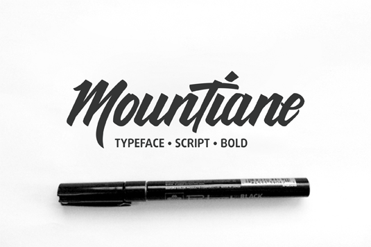 Font of the day: MounTiane