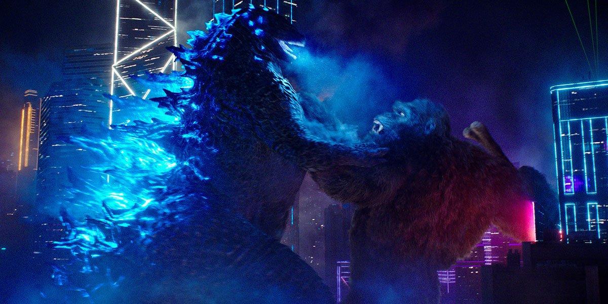 Godzilla and King Kong duke it out.
