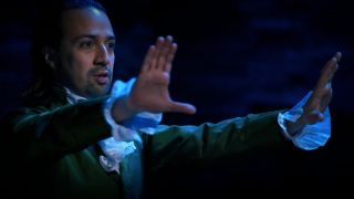 Alexander Hamilton (Lin-Manuel Miranda) lays out his plan for the U.S. Constitution during the Hamilton song 'Non-Stop'