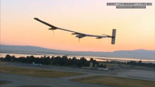 Solar Impulse Over California Runway