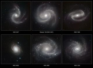Six Spiral Galaxies Shine Bright in New Photos