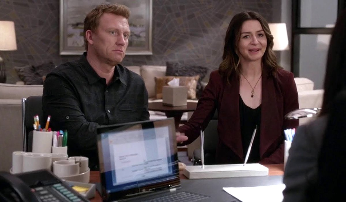 Grey's Anatomy Season 15 Owen and Amelia fight over custody at lawyer's office