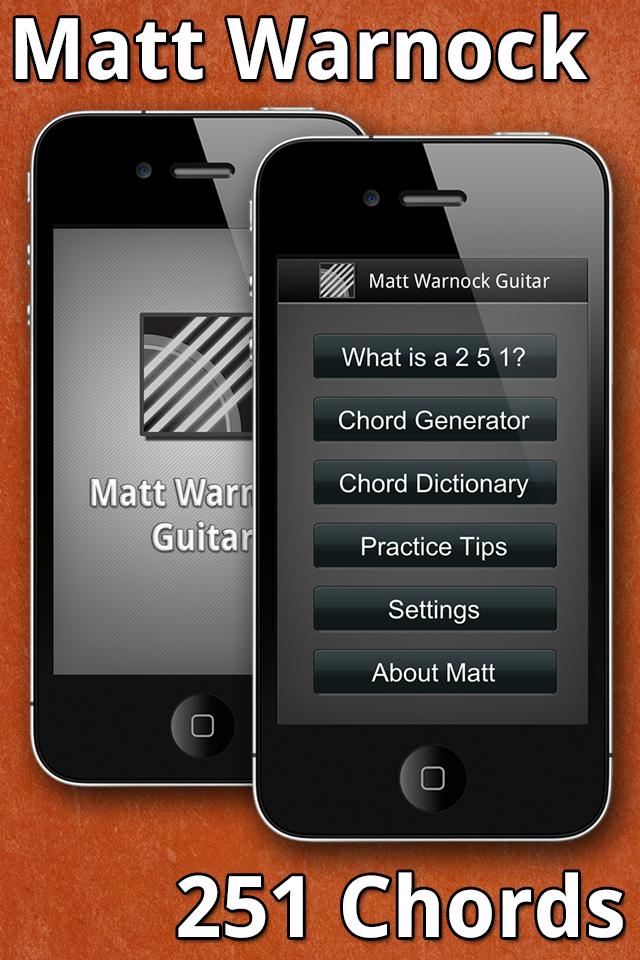 Jazz Guitarist Matt Warnock Launches '251 Chord' App for