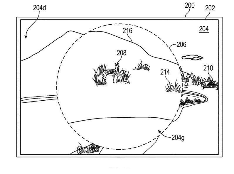 A patent showing how the Apple Glass could zoom in on things while virtually mapping
