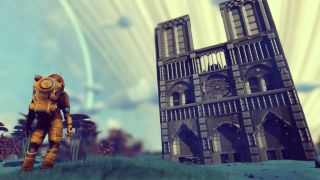 No Man's Sky player recreates the Notre Dame Cathedral in space