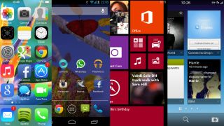 iOS7 vs Android Jelly Bean vs Windows Phone 8 vs BB10