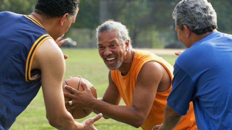 Men exercising to lose weight