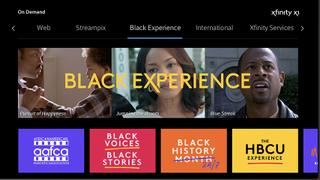 Xfinity Black Experience.