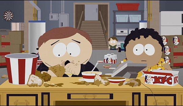 Cartman tries some blackmarket KFC on South Park